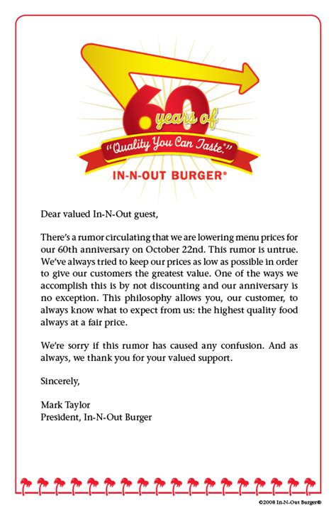 business anniversary letterhead how do you clean up a marketing mess put forth by someone