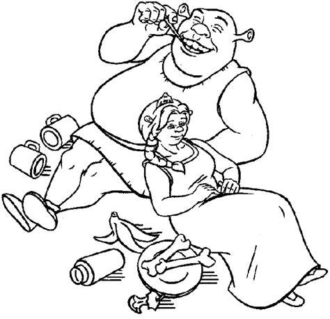 Elvenpath Coloring Pages Shrek Shrek And Fiona Princess Fiona Coloring Pages Free Coloring Sheets