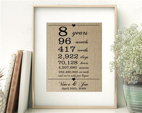 8th wedding anniversary gifts for husband gift ftempo