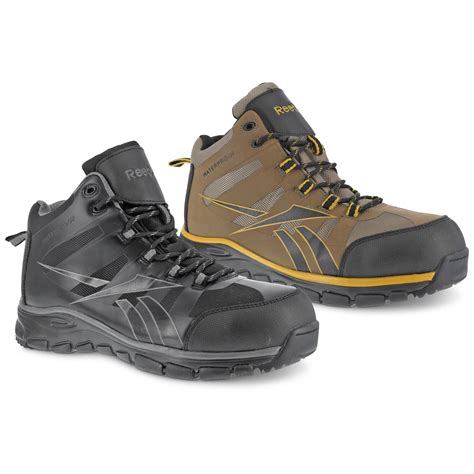 composite toe hiking boots reebok s arion composite toe waterproof hiking boots