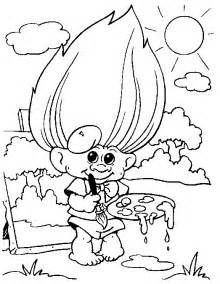 gallery gt troll doll coloring pages