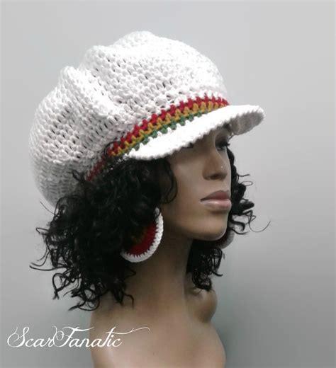 crochet hat pattern only easy crochet rasta brimmed beanie newsboy hat