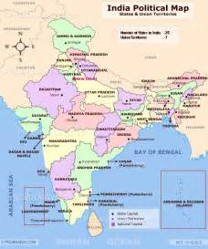 Political Map Of India by India Outline Map States Capitals