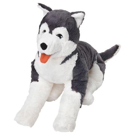 ikea dog livlig soft toy dog siberian husky 57 cm ikea