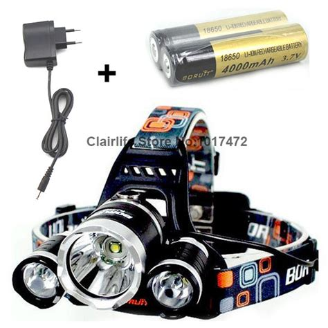 High Power Headl Cree Xm L T6 5000 Lumensboruit new boruit 3x cree xml t6 5000lumen led high power rechargeable headlight light headl