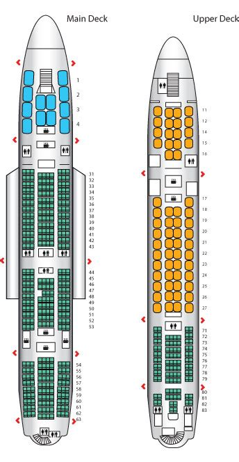 emirates airlines aircraft seating plans a380 800 config 1 singapore airlines seat maps