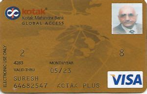 Kotak Mahindra Gift Card - bank card global access kotak mahindra bank india republic col in vi 0005 1