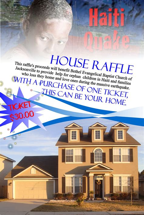 tickets for fundraising florida home raffle in