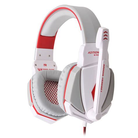 Kotion Each G4000 Gaming Headset Surround Headband With Led Light gaming headset surround stereo headband headphone usb 3 5mm led with mic for pc ebay