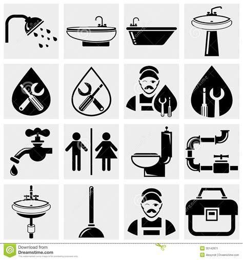 Eps Plumbing Supplies by 205 Cones Do Vetor Do Encanamento E Do Banheiro Ajustados