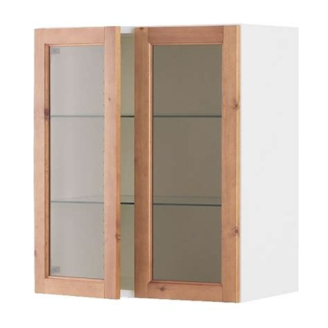 kitchen wall cabinet with glass doors wall cabinets faktum rationell system ikea