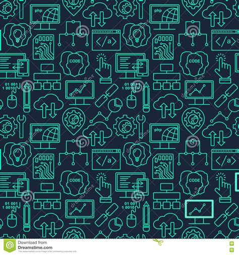 pattern html date internet technology and programming seamless background