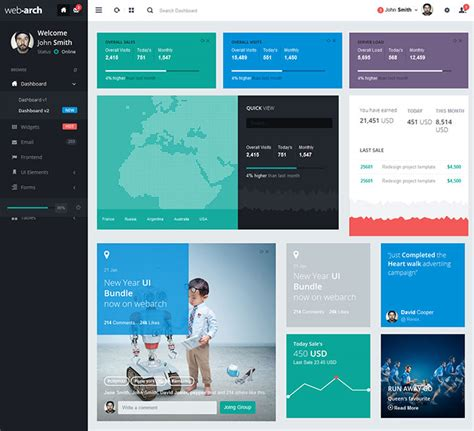25 Modern Flat Admin Dashboard Templates Web Graphic Design On Bashooka Web Application Design Templates