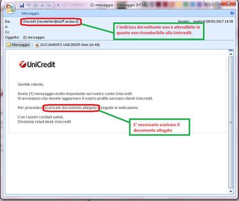 unicredit codice di adesione news malware hoax tg soft software house