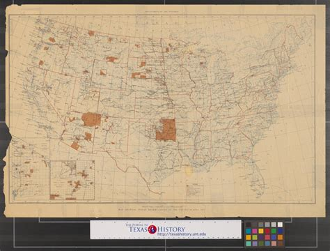 texas indian reservations map map showing indian reservations in the united states 1917 the portal to texas history