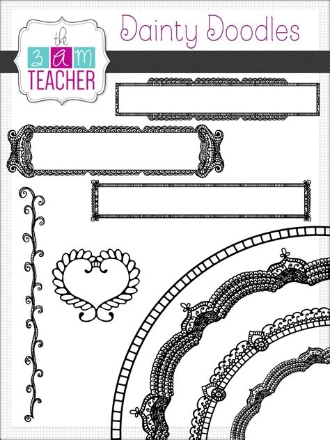 how to use engine 6 3 on doodle dug doodle frames henna style borders accents clipart set