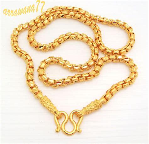 chain 22k 23k 24k thai baht yellow gold gp necklace 20