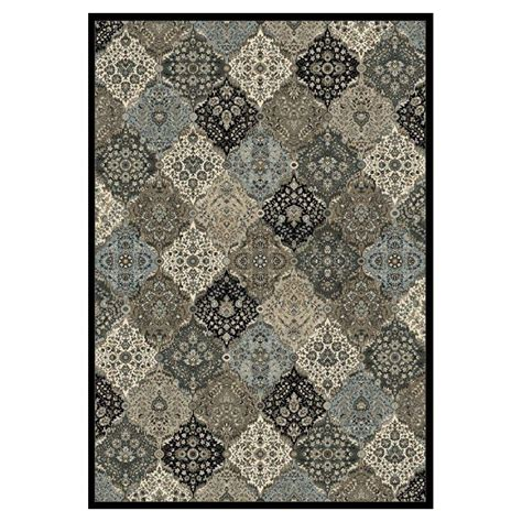 silver metallic rug kas rugs metallic panel silver black 3 ft 3 in x 4 ft 7 in area rug mna513133x47 the home