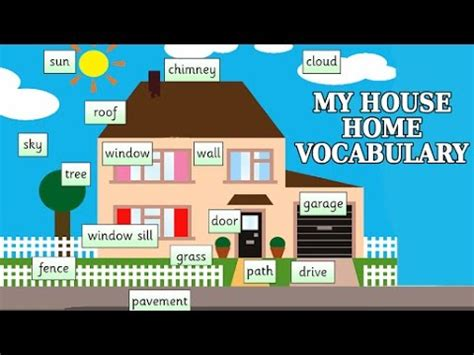 the learning house my house home vocabulary fun and learn learning videos for kids youtube