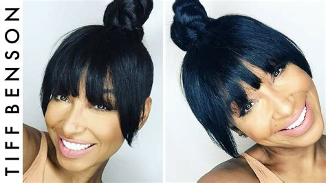mens faux top knott top knot with faux bangs 4 easy steps hair tutorial