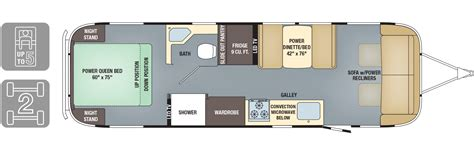 30 foot travel trailer floor plans floorplans classic airstream