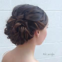gorgeous wedding hairstyle swept back low with