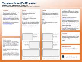 posting template word research poster template from of illinois