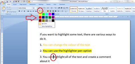 wher do i place foils to just highlight bangs how to highlight text in a word document libroediting