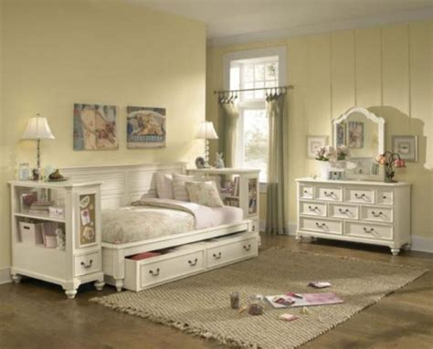 Lea Bedroom Furniture Lea Retreat Bedroom Set Sideways Bed Stand Dresser Mirror White Furniture Ebay