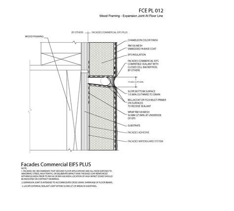 eifs wall section gypsum board eifs details specifications