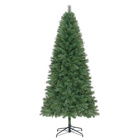 real christmas trees bq 7 6 ft eiger classic tree departments diy at b q
