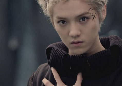 exo official wolf portraits luhan exo pinterest exo luhan wolf he looks so cute trying to look like a