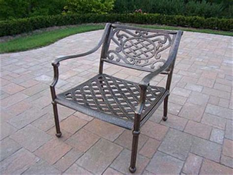 oakland living tacoma cast aluminum outdoor arm chair by