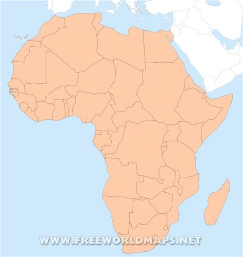 map of africa with country name africa map without names at maps