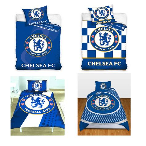 chelsea fc bedroom accessories chelsea fc single and double duvet cover sets bedding