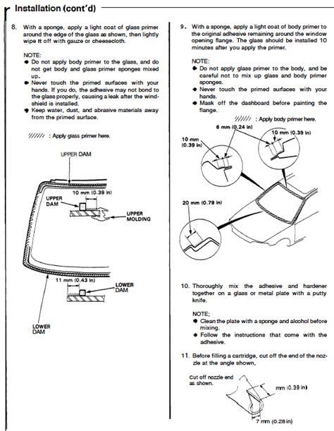 service manuals schematics 1992 honda civic windshield wipe control eg sedan windshield molding removal replacement honda tech