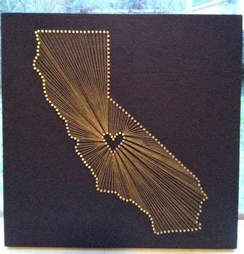 String California - california reclaimed wood nail and string