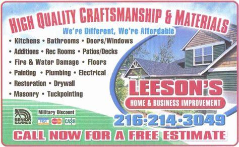 amazon com home home business services home improvement leeson s home business improvement handyman service