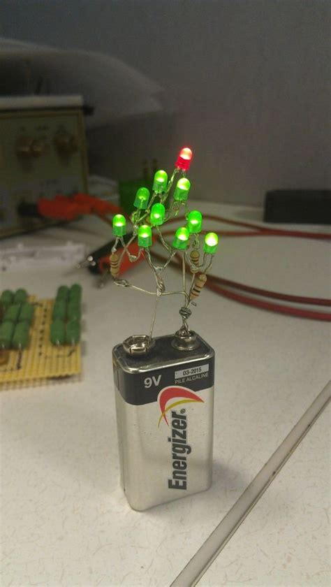 9 volt christmas tree makes decorating easy technabob