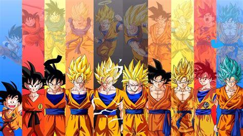 imagenes de goku transformaciones transformaciones de goku dragon ball espa 209 ol amino