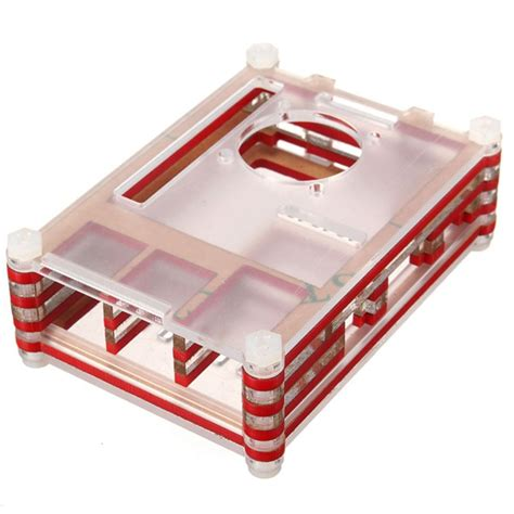 Colorful Arcylic For Raspberry Pi 2 Model B Pcba Diskon 2 colorful acrylic shell with a fan for raspberry pi 2