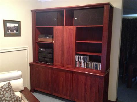 Handmade Furniture Perth - bespoke fully custom jarrah office wall unit bespoke