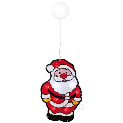 Fensterdeko Weihnachten Beleuchtet Bunt by Led Fensterbild Weihnachtsmann Bunt Glitzer Fensterdeko