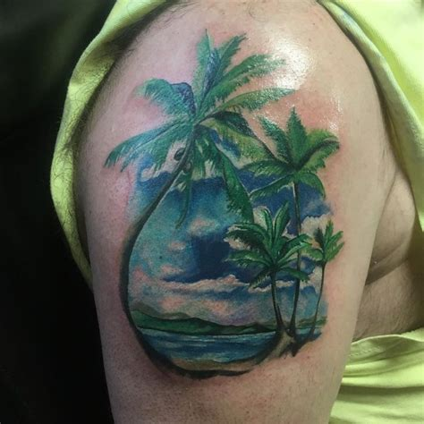 great island tattoo palm tree island tattoos island