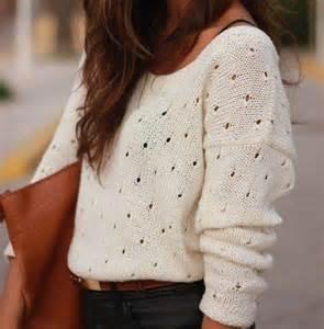 Sweater jumper cozy cream white white sweater loose boho bohemian