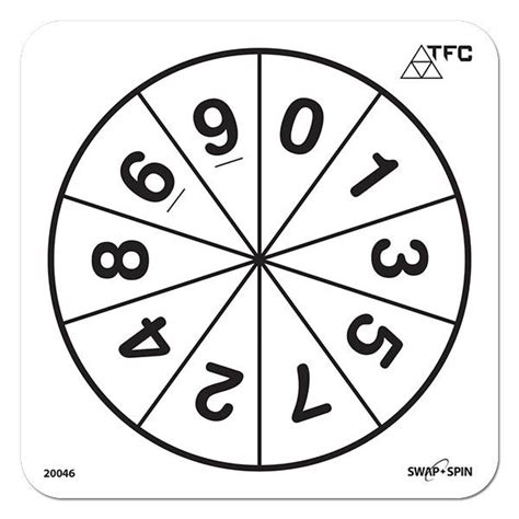 printable spinner with numbers 1 10 number 0 9 swap spin insert maths spinners product