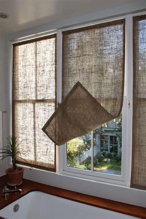 bathroom curtains for windows ideas best 25 burlap window treatments ideas on