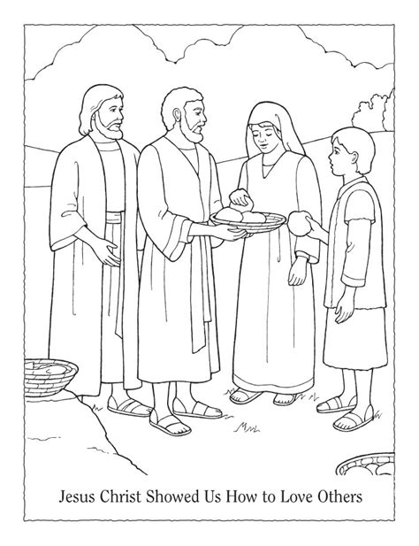 coloring page jesus everyone feeding 5000 coloring page az coloring pages