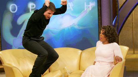 oprah couch it s been 10 years since tom cruise jumped on oprah s