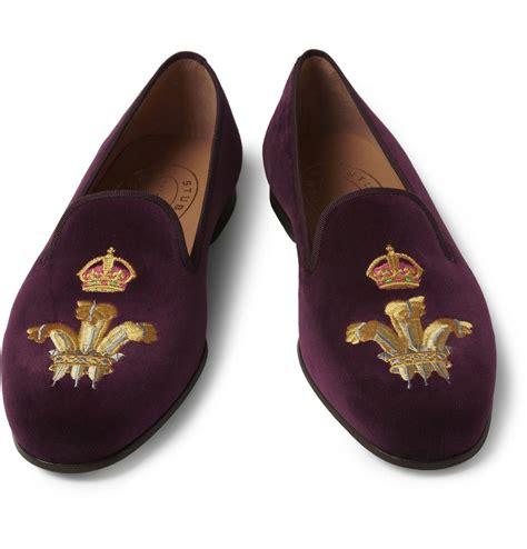 velvet slipper embroidered velvet slippers stubbs wootton stopit